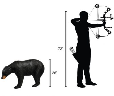 Medium Black Bear 3D Archery Target