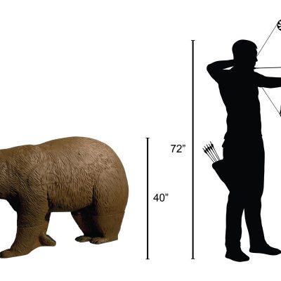 Walking Brown Bear 3D Archery Target